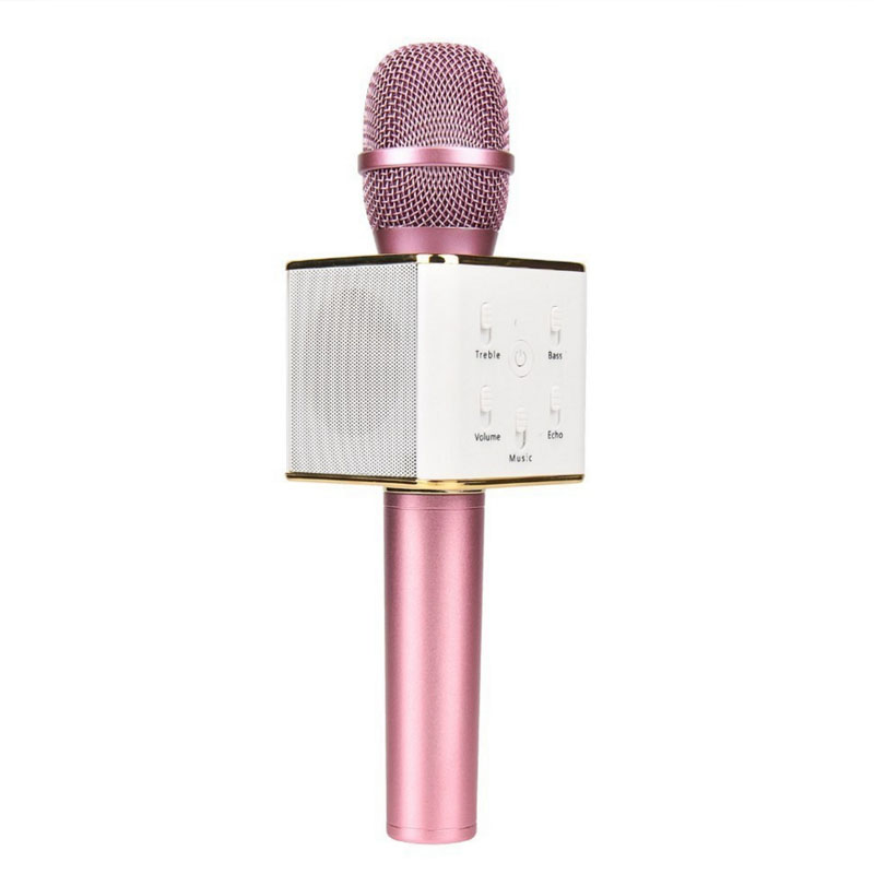 ADDKEY Q7 Q9 Magic Karaoke Microphone Wireless Condenser Bluetooth MIC Speaker Record Music Send Fast Shipping From Russia(China)