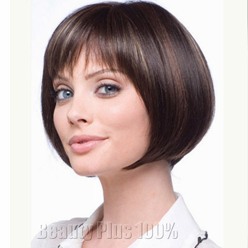 Short Highlights brown modern short haircuts cheap bob wigs for black women African American Bob wigs with free shipping &amp;gifts <br><br>Aliexpress