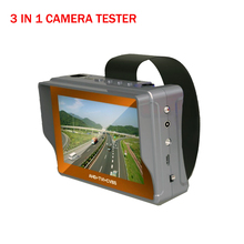 "3 IN 1 Portable Wrist 4.3"" LCD HD AHD Tester TVI CVBS Analogy CCTV Camera Test Monitor Tester,5V/12V Power Output,Cable Test"