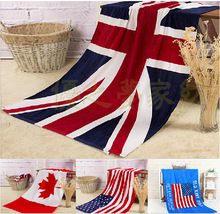 New flag beach towel U.S. English Union Jack Canada, Europe and the United States Dollar towels RN305