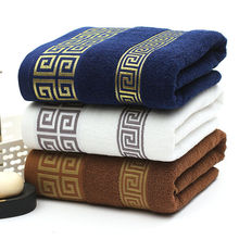 2017 Soft 100% Cotton Embroidered Towel Sets Bamboo Beach Bath Towels for Adults Luxury Brand High Quality Soft Face Towels(China)