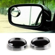 Fit for Driver 2 Side Wide Angle Round Convex Adjustable Car Blind Spot Mirror Auto Rear View Mirror 2pcs