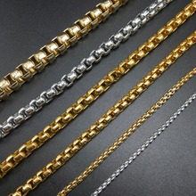 DIY jewelry making gold silver Jewelry accessories production BOX-shaped chain Open Link Iron Metal Chain Findings 100cm