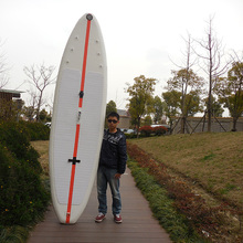 11ft 330cm   Inflatable SUP Stand  Paddle SurfBoard Anti-ski EVA Deck Wider Board 83cm Wide for Beginner 15cm Thick