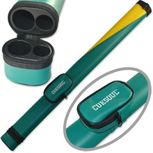 BCC003 Cuesoul 2014 Brazil Wold Cup Theme Green Yellow Composite Two Tone Pool Cue Tube Case Billiard Snooker Cue Canister