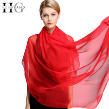 HEE GRAND 016 Fashion silk Shawl Wrap New Women Vintage Solid Scarf Thin Long Autumn Winter Leopard Scarves&Stoles PWS122