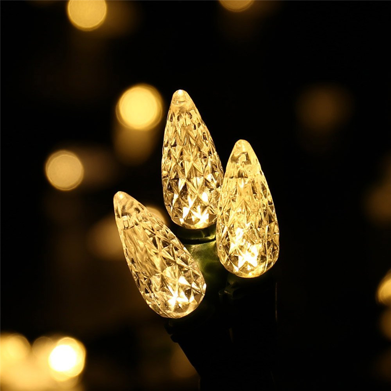 Faceted C5 LED Christmas Lights (15)