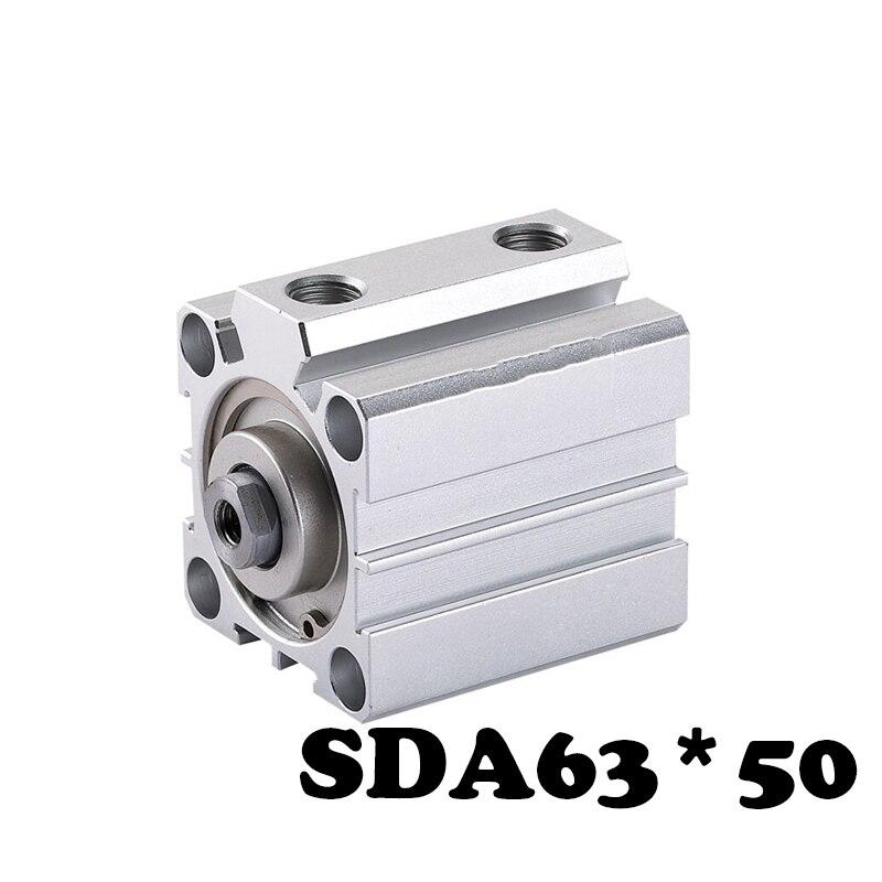 SDA63*50 Standard cylinder thin cylinder SDA Series 63mm Bore 50mm Stroke Cylinder <br><br>Aliexpress