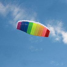 Double Line Rainbow Kite Outdoor Fun Sport with Flying Tool(China)