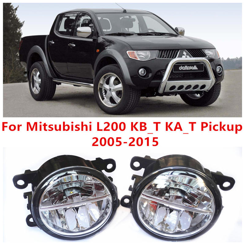 For Mitsubishi L200 KB_T KA_T Pickup  2005-2015 Fog Lamps LED Car Styling 10W Yellow White 2016 new lights<br>