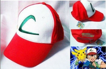 New Anime Pokemon ASH KETCHUM trainer costume cosplay hat cap(China)