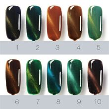 Hot Gel Polish Gel Nail Polish Set Magnetic Nail Polish Gel Luckly Varnish Lacquer Cat Eye Nail Gel(China)