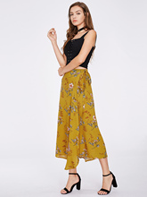 JIANRUYI New Summer Women Explosion Irregular Lace Big Pendulum Print Bust Skirt Fashsion Holiday Skirt(China)