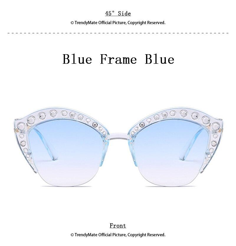 2018 Luxury Rhinestone Sunglasses Women Italy Brand Designer Crystal Sun glasses Ladies Fashion Oversized Shades Female 1331T