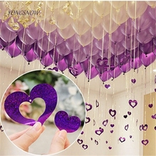 Shining Heart Pendant With Foil Fringe Curtain Tinsel Tassels Balloon Party Wedding Birthday Room BackDrop Gathering Decoration(China)