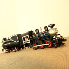 1947 steam locomotive model presents two train practical manual Vintage Tin ornaments props home decoration accessories