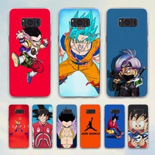 Japan Cartoon DRAGON BALL Z goku illust design hard transparent Case for Samsung Galaxy S6 S7 edge S8 Plus s5 note 5 4