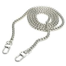 New Arrival 120cm x 6mm Stainless Steel Purse Chain Strap Handle Shoulder Crossbody Handbag Bag Metal Replacement 3 Color