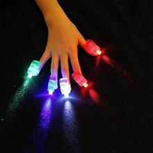 4Pcs/set LED Finger Lights Lamps Party Torch Glow Ring Gift Toys For Children