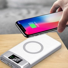 Buy Qi Wireless Charger 10000Amh Portable Dual USB Digital Power Bank LED Flashlight Wireless Charging Pad Qi Smartphone for $21.51 in AliExpress store