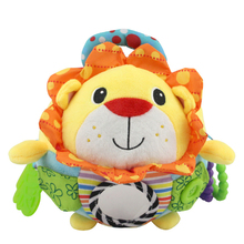 baby Cartoon owl lion cloth ball plush toy hand ball rattles mobiles teethers appease stuff doll for reborn boys girls PT151