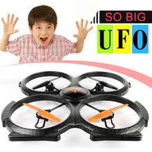 BIG drone RC quadcopter remote control 3D Roll 6 Axis 4CH 2.4GHz RC Helicopter with HD camera LED light VS V262 V666 ship by EMS(China)