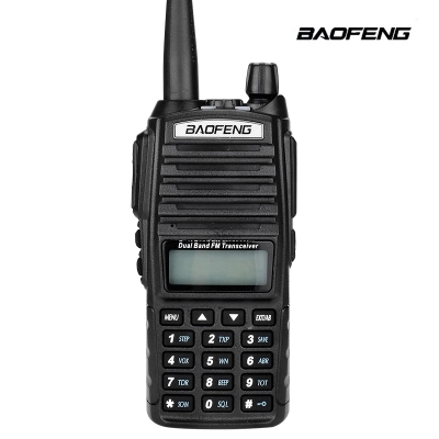 High quality BaoFeng uv-82 Portable Ham Radio Walkie Talkie Dual PTT Handle Radio sister Baofeng UV-5r + Earphone baofeng UV 82(China)