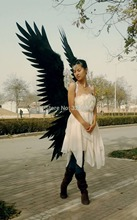 black angel wings model show devil wings star use artist black wings for home decoration free shipping