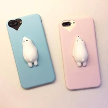 Squishy Mobile Phone Cases 3D Cute Bear Phone Cover for iPhone 6s 6 6 Plus 7 7 Plus 5 5s SE Case Soft Silicone Gel Shell(China)