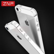 ZNP Ultra Thin Soft Transparent TPU Case For iPhone 5 5S SE Clear Silicone Case Cover For iPhone 5S SE 5 Phone Case Capa Coque(China)