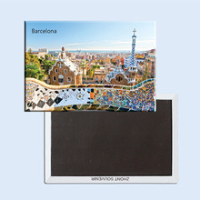 Tourist Magnets FREE shipping Spain Barcelona City Building Fridge Magnet 5359(Hong Kong)