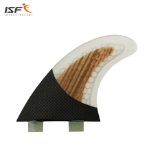 ISF carbon fiber honeycomb wood surfboard fins thruster FCS pranchas de fcs surfing Quilhas SUP fins paddle fins size S/M/L