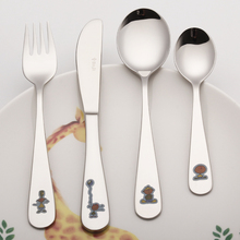 Children Cutlery Set 18/10 Stainless Steel Dinner Set Knife Fork Scoops Home Silverware Set Kindergarten Dinnerware Set Kitchen