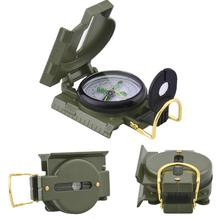 Outdoor Camping Compass Military Army Hiking Camping Lens Survival Lensatic Mini Metal Pocket Compass(China)