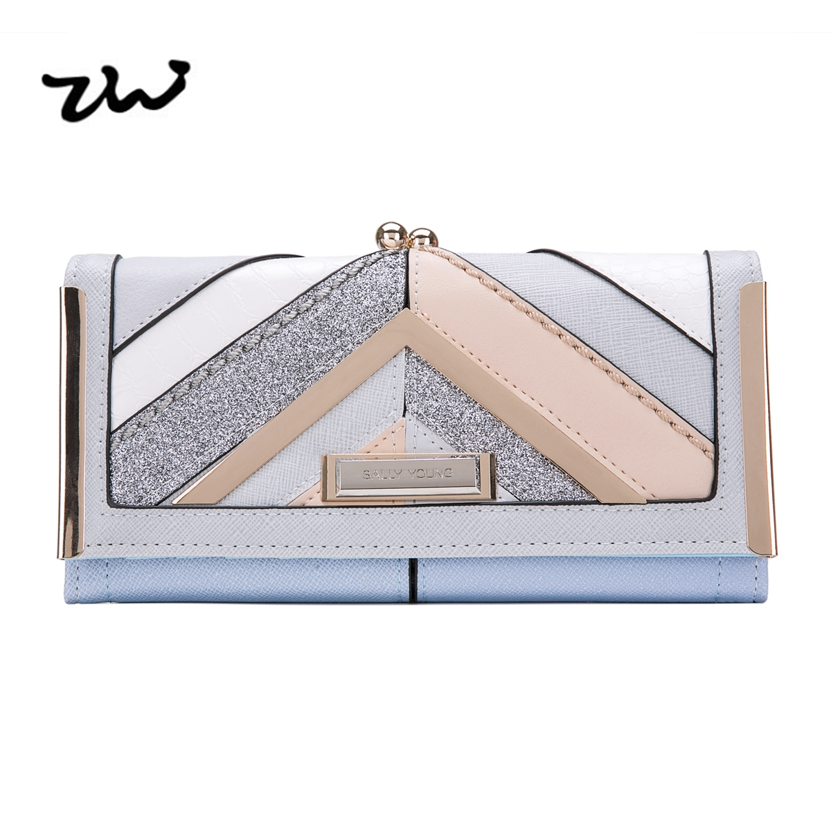 ZIWI 2017 New  Women Wallets For Credit Cards  Soft Pu Leather Fashion  Long Coin Purses Holders Splicing Color Pattern  SY5024<br>