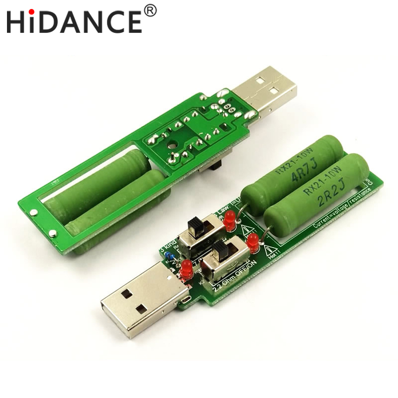 USB-resistor-dc-electronic-load-With-switch-adjustable-3-current-5V1A-2A-3A-battery-capacity-voltage