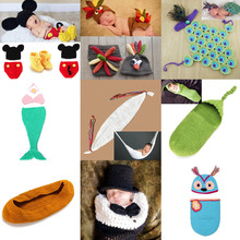 Retail Crochet Baby Cocoon Costume Set Newborn Photography Props Handmade Toddler Clothes for Shoot SG045(China)