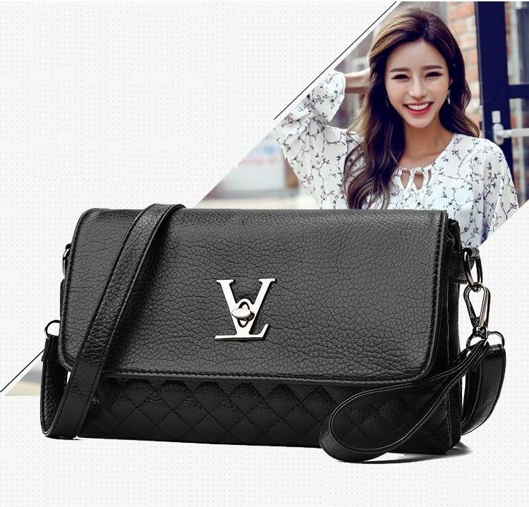 d392d54e4f51 Famous Brand Designer Clutch Bag New Business Black Solid PU Leather ...