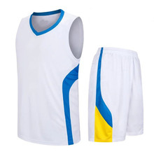 New Design White College Basketball Jerseys Adults Sports Suits Custom Blank throwback Basketball jersey LD-8080(China)
