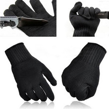 NEW Stainless Steel Wire Safety Work Anti-Slash Cut Static Resistance Wear-resisting Protect Gloves Hand Safely Security Black(China)