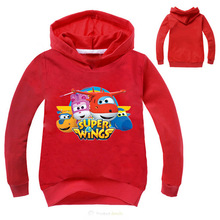 Z&Y Newest Ajax 2017 Fall Super Wings Baby Girls Clothes Kids Novelty Hoodies Boys Jumper Kids Hoodies and Sweatshirts Fashion(China)