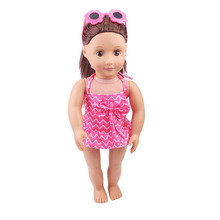 2017 new 18-inch dolls clothes suit + glasses accessories free shipping in the United States TS91