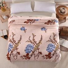 Bed Cover Blanket Flannel Blanket Warm Soft Fleece Throw Sofa Cheap China Mandala Blanket Blue flower Retro Leaf Adult Bed sheet