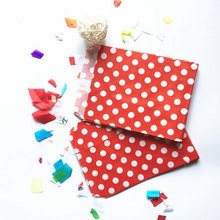 25Pcs Gift Bags Dots Printed Favor Gift Packaging Favour Candy Food Packaging Grease Proof Paper Bag Party Wedding Decoration(China)