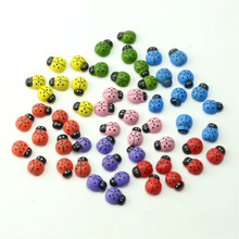 12*15mm 20Pcs Wooden Ladybird Ladybug Wall Sticker Children Kids Painted adhesive Back DIY Craft Home Party Holiday Decoration