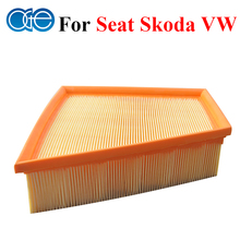 Car Parts Engine Air Filter For VW Polo Fox / Skoda Fabia Roomster / Seat Ibiza Cordoba 1457433575, 6Q0129607AE, 6Q0129620(China)