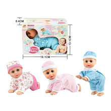 Baby Infant Plastic Electric Music Crawling Baby Talking Singing Dancing Doll Early Learning Toy Kids Gift Random Send(China)