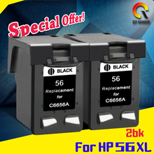 2 bk PRINTER CARTRIDGE Compatible for HP 56 56 XL PSC 1110 1200 1210 1210V 1215 1219 1310 1312 5550 5650 7760 9650 PSC 1315 1350(China)