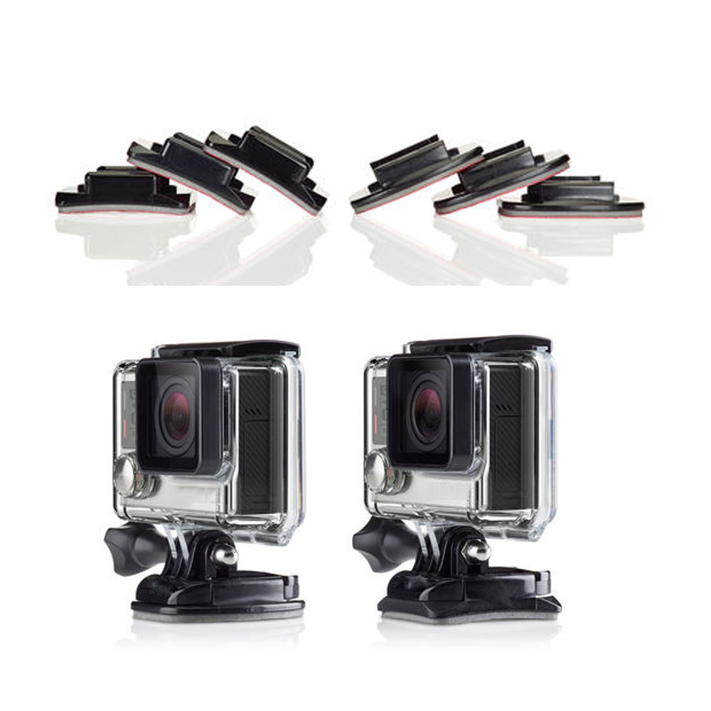 SHOOT Flat and Curved Surface Base Mount With Double Side Sticker For GoPro Hero 5 4 3 SJCAM SJ4000 Xiaomi Yi 4K Accessories Set