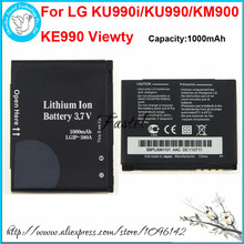 New LGIP-580A 580A Li-ion Mobile Phone Battery For LG KU990i Viewty/KU990 Viewty/KM900 Arena/KE990 Viewty,1000mAh,High Quality(China)
